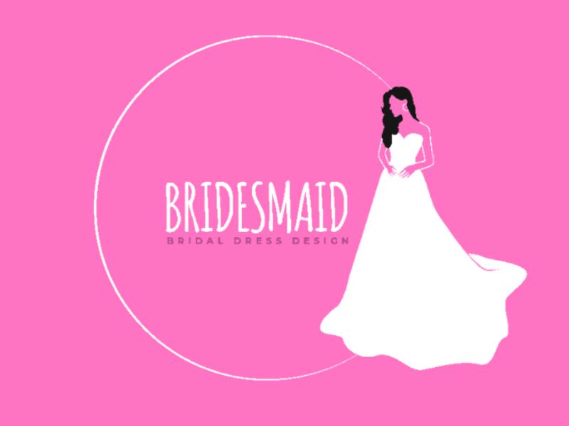 Bridal dress design logochallenge ivori logo design
