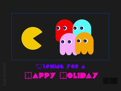 Practice Holiday raw editors pacman holiday cards holidays design adobe illustrator illustrator adobe vector weekly warm-up weekly challenge weeklywarmup