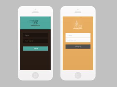 Rejected Color Schemes flat ui login iphone color