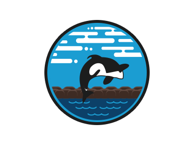 Free Willy! whale water flat illustration clouds sky movie free willy
