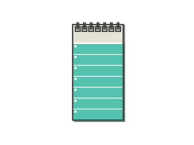 Another desk thing illustration behance action runner notepad flat