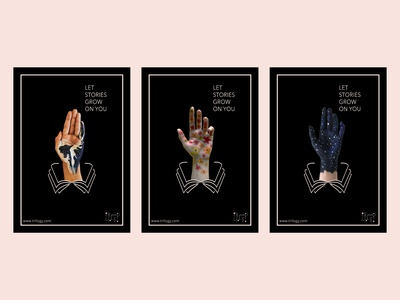Posters for Trilogy: A Conceptual Bookstore