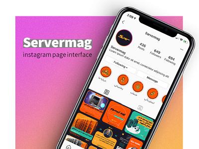 instagram interface template socialmedian instagram interface branding illustration graphic design