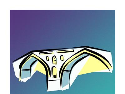 Langrud Historic Bridge langrud historic bridge illustrator vector illustration design graphic design