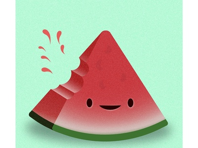 Watermelon illustration, disegn for summers poster! . watermelon vector illustrator illustration design graphic design