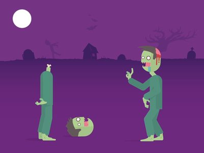 Zombie story vector creative design digital character design infostarters illustration 2d animation infographic