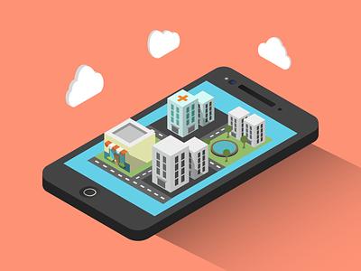 Mobile world branding custom digital vector flat 2d infographic design infostarters illustration