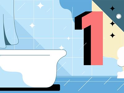 Cleaning custom creative design digital vector flat 2d infographic design infostarters illustration