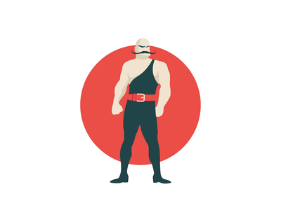Strongman character graphic creative design vector flat 2d animation infographic design infostarters illustration