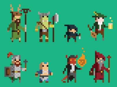 Pixel art avatars