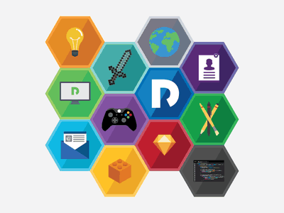 Hexagonal icons 2d hexagonal flat icon