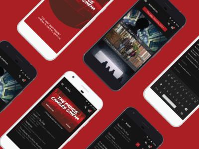 Prince Charles Cinema mobile app concept
