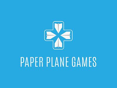 Paper Plane Games logo illustration illustrator d-pad games logo paper plane logo design logo