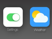 Settings & Weather (iOS 7 redesigns) - thespoondesign