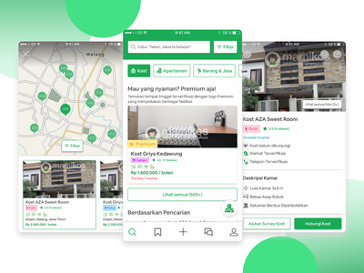 Mamikos.com Redesign - Apartment Finder App mobile app design mobile app uidesign ui design