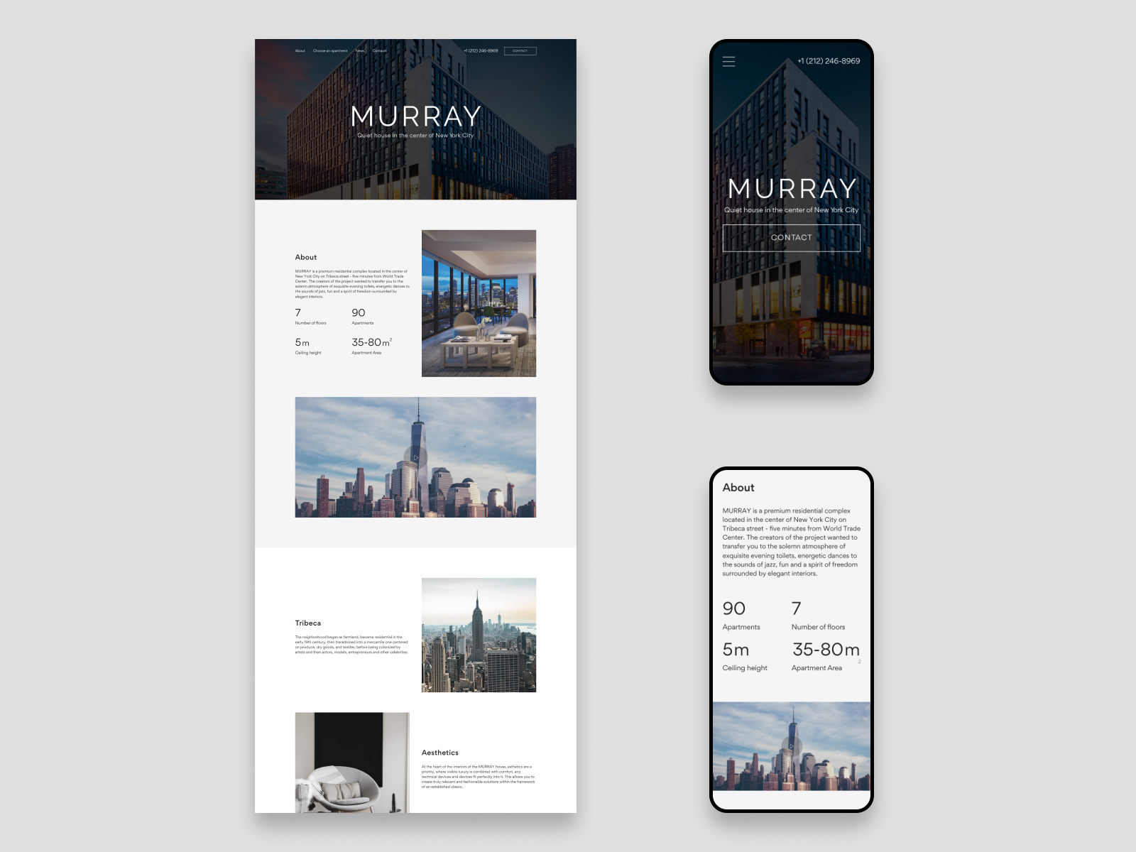 MURRAY - Luxury apartments website by Viktor A on Dribbble