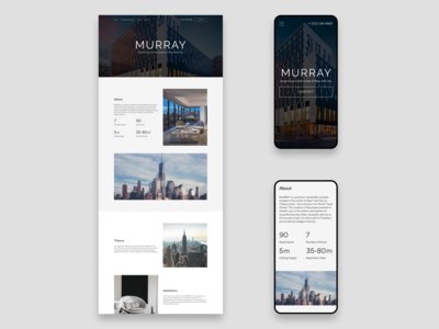 MURRAY - Luxury apartments website