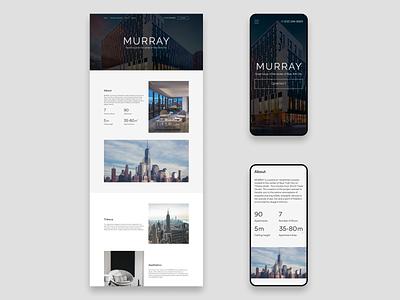MURRAY - Luxury apartments website web design interface minimalism creative clean landing page website web ux ui real estate minimal design