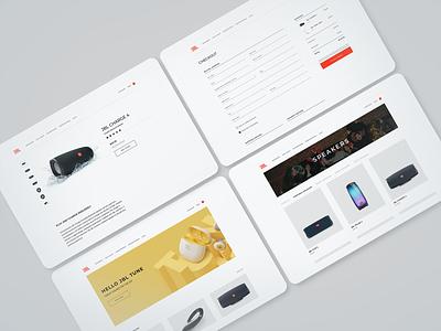 JBL — E-commerce website web design web ux ui minimal interface design creative clean