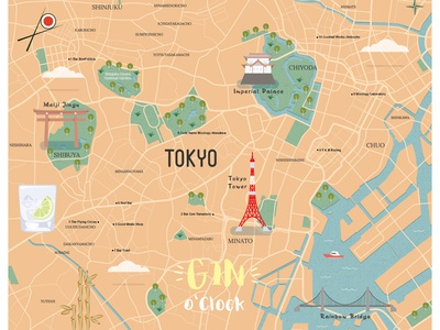 Tokyo Illustrated Map