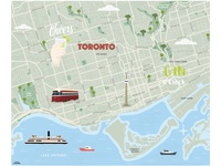 Toronto Map illustrated map