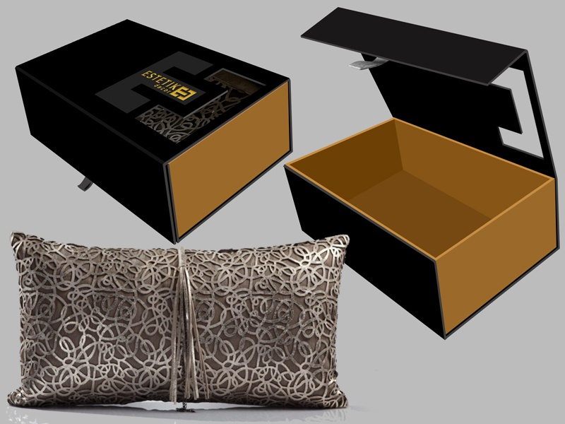 CUSHION packaging design luxury brand cushion package design packaging