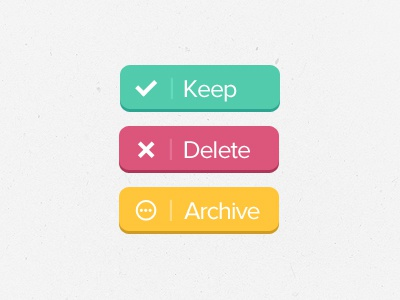 Buttons [FREEBIE] buttons free freebie keep save delete archive