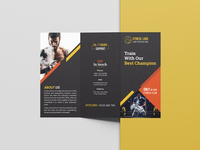 Fitness/Gym Tri-Fold Brochure Template