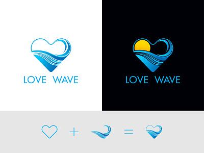 Love Wave Logo design clean design creative simple logo brand design branding logoinspiration logoconcept logoidea logodesign minimalist minimalist logo love wave logo wave love