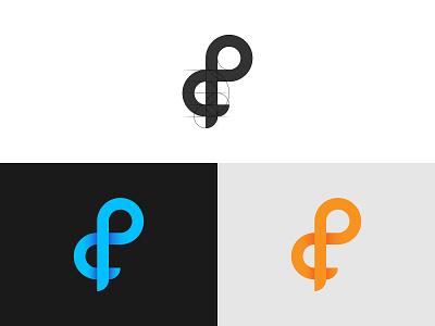 d + p Letter combination Logo creative logo minimalist minimal simple logo logo marks logo concept logo inspiration logo idea logo mark modern logo letter combination logo letter logo dp logo