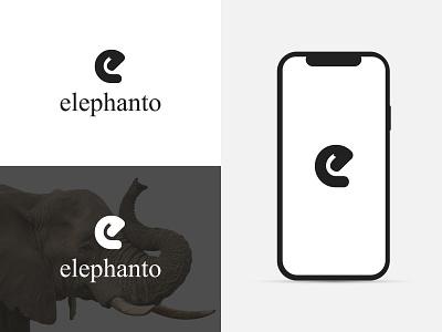 e + elephant trunk logo minimalist logo creative simple clean ai modern logo elephant elephant trunk logo mark logo icon logo inspiration logo idea logodesign logotype e letter logo