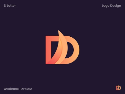 Letter D Logo illustraion brand identity brand mark vector abstract 3d gradient creative favicon app icons app icon simple logo logo idea modern logo logodesign logo mark minimalist logo design branding