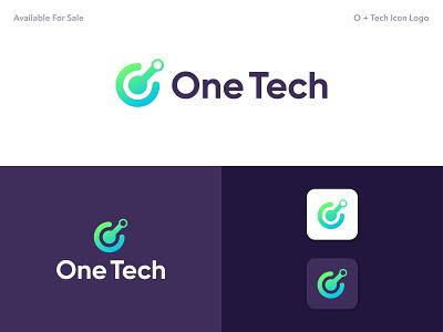 Letter O + Tech Icon Logo gradient vector abstract 3d favicon app icon logo app icons brand identity creative logo simple logo modern logo logodesign logo mark minimalist logo clean design creative branding
