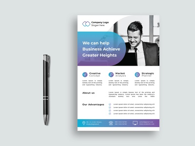 Modern Business Flyer handout business flyer creative advertising a4 size leaflet corporate flyer branding design illustration