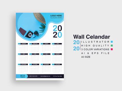 2020 Wall Calendar Template.