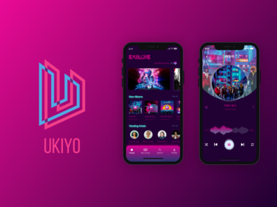 Ukiyo Music Player Mobile App Ui