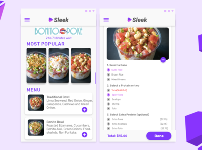 Sleek Food App Ui Design