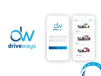 DriveWays Mobile App Ui