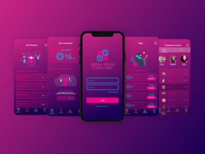 Weekly Memory Tournament Mobile App Design