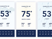 Daily UI #37 - Weather App