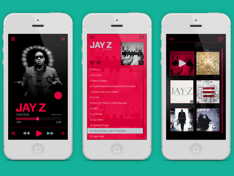 music player for iphone iphone ui player app interface by edwin diaz dribbble 3378