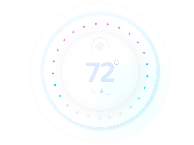 Thermostat UI dial -  #30dayUI -Day 4 user interface iot dial nest flat hot cool thermostat ui