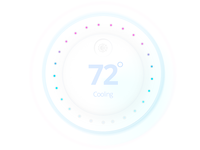 Thermostat UI dial -  #30dayUI -Day 4