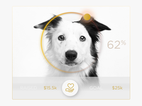 Donate Charity Doggie UI Widget
