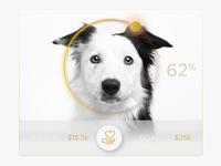 Donate Charity Doggie UI Widget