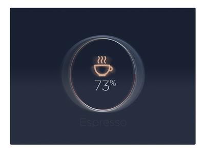 Espresso Machine UI status -#30dayUI - Day 9 iot machine dial brew espresso coffee status simple graph ui