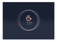 Espresso Machine UI status -#30dayUI - Day 9