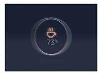 Espresso Machine UI status -#30dayUI - Day 9
