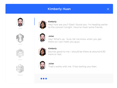 Chat UI - #30dayUI - Day 10 webapp widget ios message chatting userinterface clean blue chat simple ui