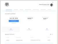 Credit Card/Bank User Interface - UI